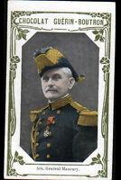 IMAGE CHOCOLAT GUERIN BOUTRON / Militaire GENERAL MANOURY à NANCY & à PARIS