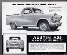 Austin A55 Cambridge Coupe Utility Late 1950s Australian Market Leaflet Brochure