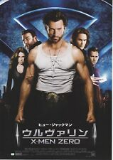 X-MEN ORIGINS: WOLVERINE- OriginalJapanese Mini Poster Chirash
