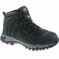 DICKIES MEDWAY BLACK SAFETY BOOTS SIZE UK 10 EU 44 FD23310 WATERPROOF HIKER