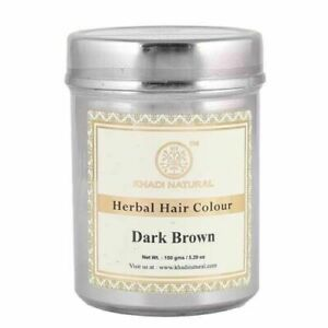 Khadi Natural Herbal Hair Colour Dark Brown 150 Gm Free Shipping