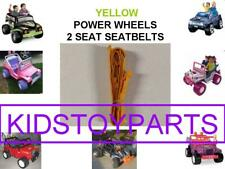 1 PRE OWNED YELLOW Fisher Price Power Wheels 2 Seat / SEAT Number: 00801-2084