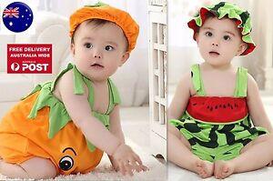 Baby Kid Girl Boy Halloween Pumpkin Watermelon Fruit Party Costume Romper Prop