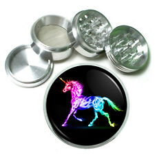 "Unicorns D11 Aluminum Herb Grinder 2.5"" 63mm 4 Piece Mythical Creature"