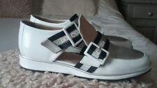 chaussures femme  blanc marine  argent  en cuir accessoire diffusion 37