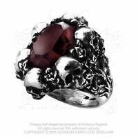 ALCHEMY GOTHIC - SHADOW OF DEATH RING - GOTH PAGAN PUNK ROCK SKULLS