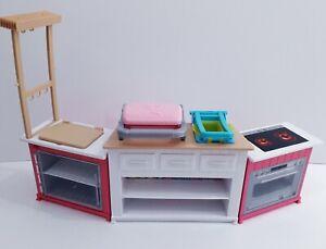 Barbie Ultimate Kitchen Furniture Oven Makes Sounds Noises