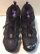 1997-98 Kobe Bryant Autographed Game Worn Crazy Eight Road Sneakers Lakers