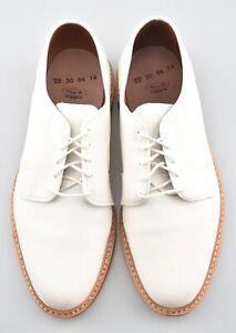 NEW w BOX | ALLEN EDMONDS 7.5E WHITE SUEDE LEEDS BRICK RED SOLE DRESS SHOES