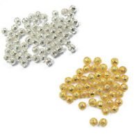 Metal Filigree DIY Spacer Beads 4mm/6mm/8mm/10mm/12mm Plated Gold/Silver HOT