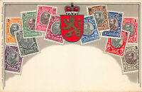 Burgaria Stamps on Early Postcard, Unused, Published by Ottmar Zieher
