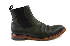 $395 | N.D.C. MADE BY HAND BLACK LEATHER BROWN SOLE CHELSEA BOOTS MEN'S 44 US 10