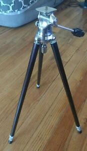 """Hollywood Junior Tripod 48"""" extended Vintage camera tripod Amazing condition"""