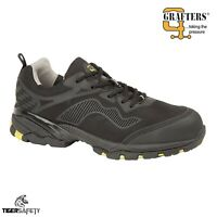 Grafters M894A S1P SRA Black Wide Fitting Steel Toe Cap Sports Safety Trainers