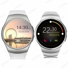 Bluetooth KW18  Smart Wrist Watch SIM Phone For Android iPhone Samsung Silver