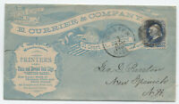 c1880 1ct banknote allover E. Currier & Co. ad cover Boston MA [y4077]