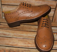 New Mens Church Walk Tan Hand Made Goodyear Welted All Leather Shoes Size 9