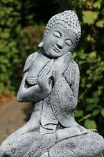 NEU Buddha - Skulptur - 32 cm - Steinguss - Frostfest - Garten Figur patiniert