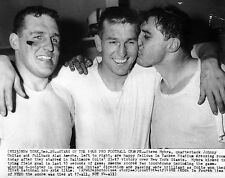 1958 BALTIMORE COLTS CHAMPS STEVE MYHRA JOHNNY UNITAS ALAN AMECHE PHOTO 8 x10