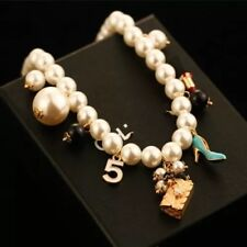 Designer style Pearl no 5 Charm Necklace