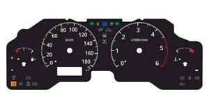 Custom speedometer instrument cluster gauge faceplate Nissan Patrol GR Y61 ZD30