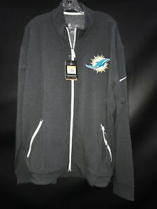 MIAMI DOLPHINS TEAM ISSUED GREY ZIP NIKE DRI-FIT LIGHT WEIGHT JACKET NEW W/TAGS