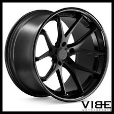 "19"" FERRADA FR2 BLACK CONCAVE WHEELS RIMS FITS NISSAN 350Z"