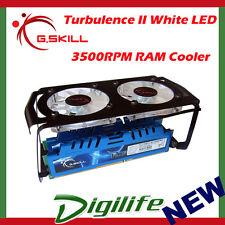G.Skill Turbulence II White LED 3500RPM RAM memory Cooler FTB-3500C5-D