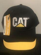 Caterpillar black/yellow ball cap Hat New! Free Shipping!