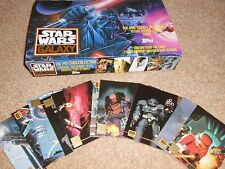 STAR WARS GALAXY DISPLAY BOX (Empty) + CARDS L1 - L12 CHASE SET    - TOPPS FOIL