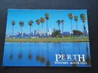 PERTH WESTERN AUSTRALIA VIEW CITY SKY-LINE FROM SOUTH PERTH - POSTCARD