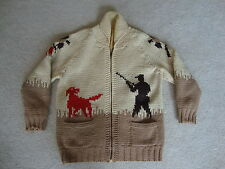 Vintage 50's Hunting Knit Cardigan Sweater jacket M