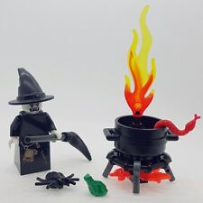 LEGO Halloween Vampire Witch Minifigure and  Cauldron with Accessories