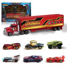 7 STÜCKE Justice League Avengers Batmobil Truck & Auto Modell Spielzeug Fahrzeug