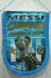 ARGENTINA 2021 Pennant LIONEL MESSI 10 National Team Copa America Champion AFA !