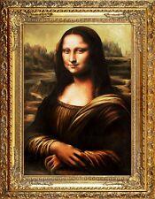 Leonardo da Vinci - Mona Lisa -Große Meister-90x70cm Ölgemälde Handgemalt Rahmen