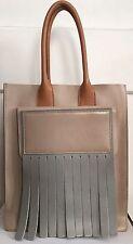AUTHENTIC Acne Studios Piers Tote Bag colorblock Leather Fringe purse shopper