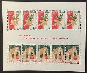 Palm Sunday Observance mnh miniature sheet 1981 Monaco #1279a Europa