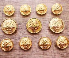 J262 11pcs Blazer Suit Set Button 15/20mm Gold Metal Shank  Bespoke Sport Coat