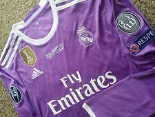 Real Madrid Champions League Final Adidas Soccer Kit Jersey Futbol Shirt No Name