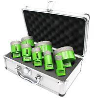 8 tlg M14 Diamantbohrer Bohrkrone Koffer Set Flex Ø 20 25 32 35 40 50 60 68 mm
