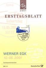 BRD 2001: Werner Egk! Ersttagsblatt der Nr. 2186 mit Bonner Sonderstempel! 1A