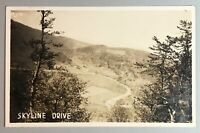 Vintage RPPC SKYLINE DRIVE Virginia Shenandoah Valley National Park Unposted