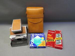 Vintage Polaroid SX-70 Land Camera w/ Time Zero Instant Film & Flash Bulb