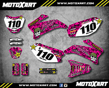 Full Custom Graphic Kit PINK METAL STYLE Yamaha TTR 110  All years  decals