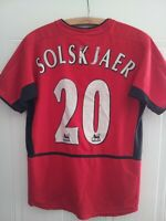 Manchester United Home Football Shirt Solskjaer Nike Jersey 2002 2003 Original