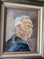 ULYSSE Jean-Paul 1925-2011-Tableau/ huile-portrait homme-1977-HST-oil