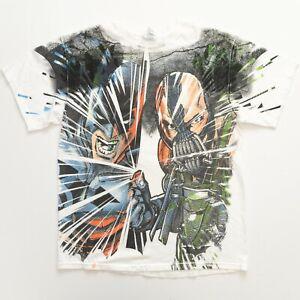 Vintage Batman Shirt Size Large Bane All Over Print Comic DC Universe Delta Tag