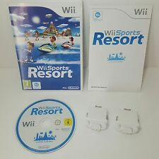 Wii Sports Resort + 2 Genuine Original white Nintendo motion plus Dongle add ons