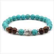 Charm Chakra Healing Buddha Beaded Bracelets Natural Turquoise Stone Bracelets